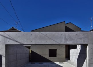 Single-family house located in Tokyo built with severe restrictions on space of land and height