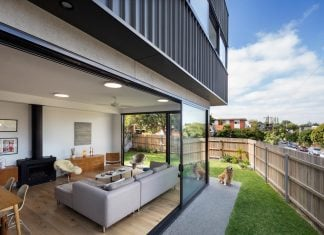 St Kilda East Townhouses includes two typical dwellings for three family generations