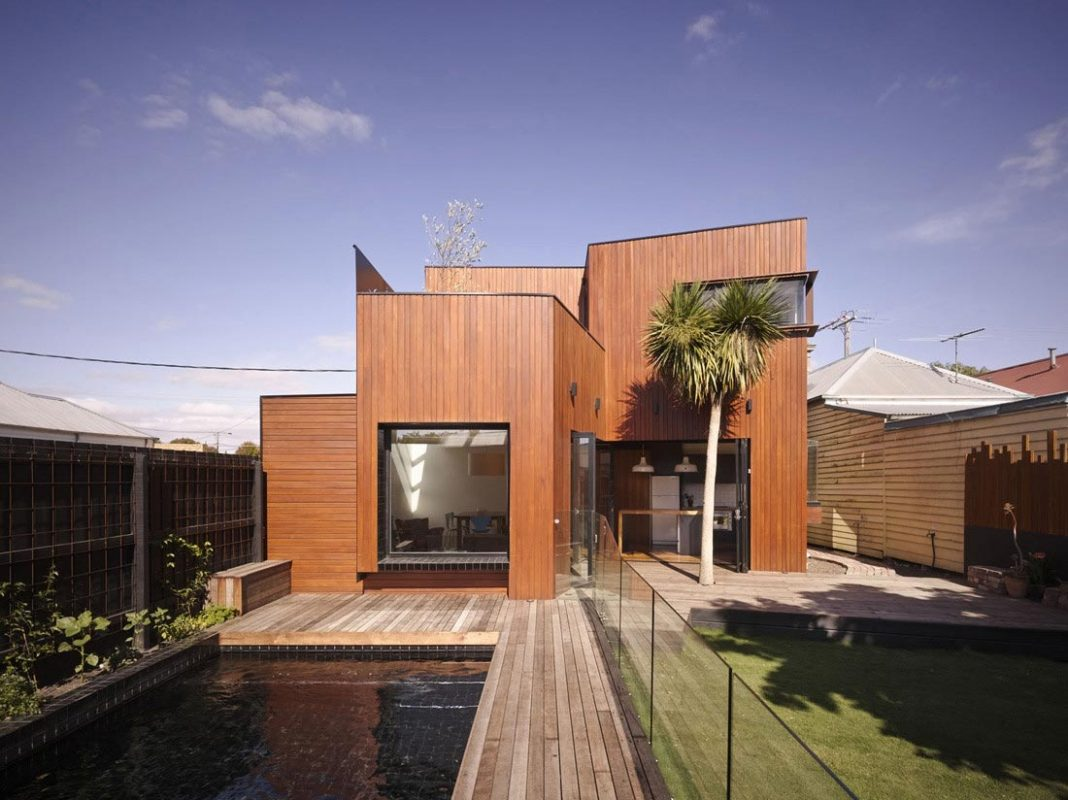 Timber double story addition to the weatherboard barrow for Modern weatherboard home designs