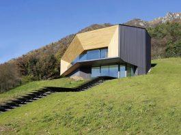 Angular Alps Villa planting a relationship between built intervention and nature