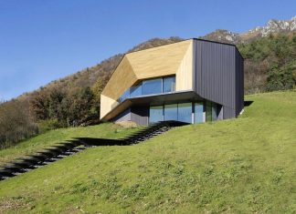 Angular Alps Villa planting a relationship between built intervention and nature
