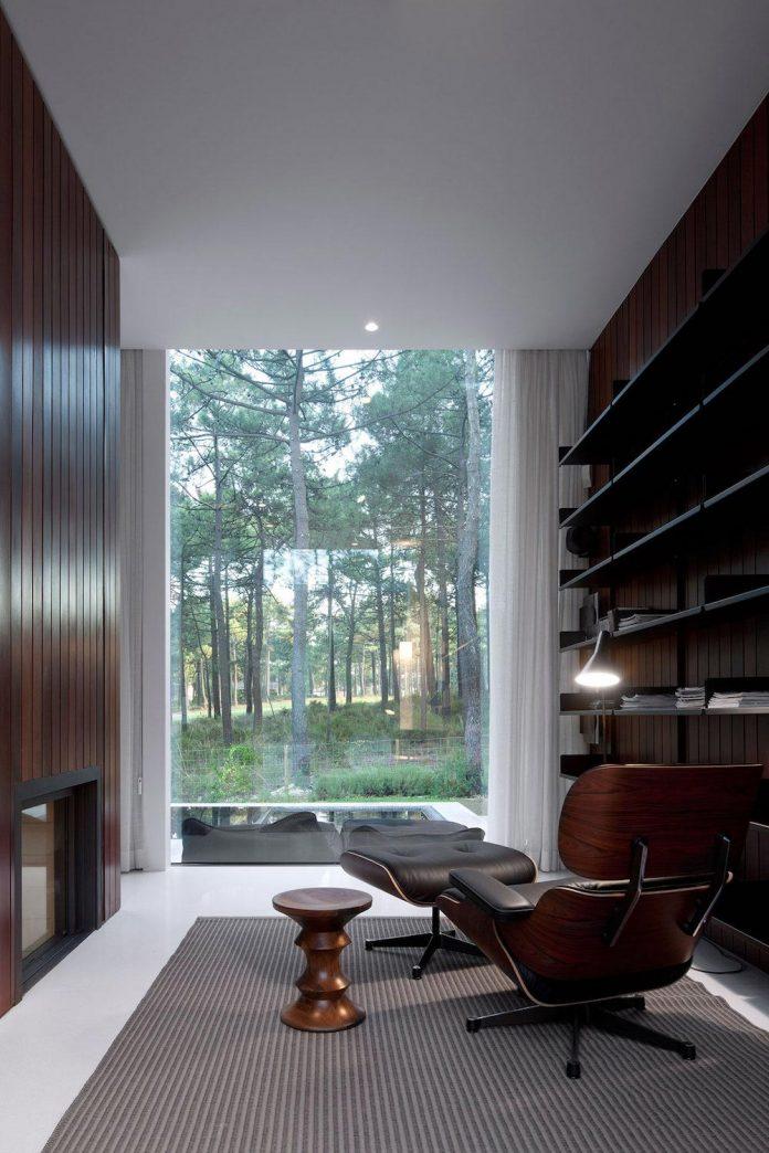 contemporary-residence-located-hexagonal-plot-dense-pine-forest-14