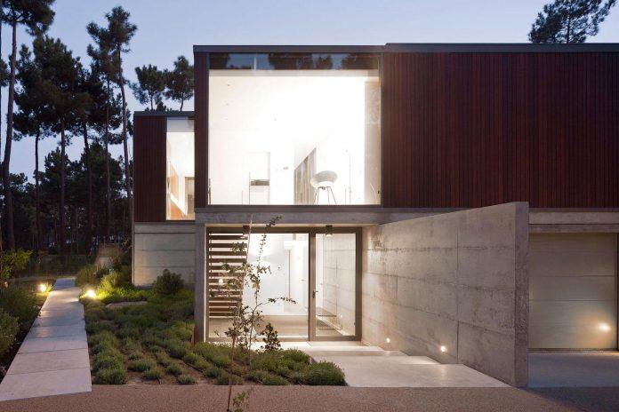 contemporary-residence-located-hexagonal-plot-dense-pine-forest-15