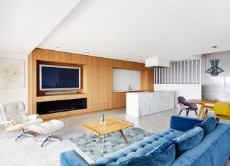 Contemporary triplex apartment in Prague designed in bright colours