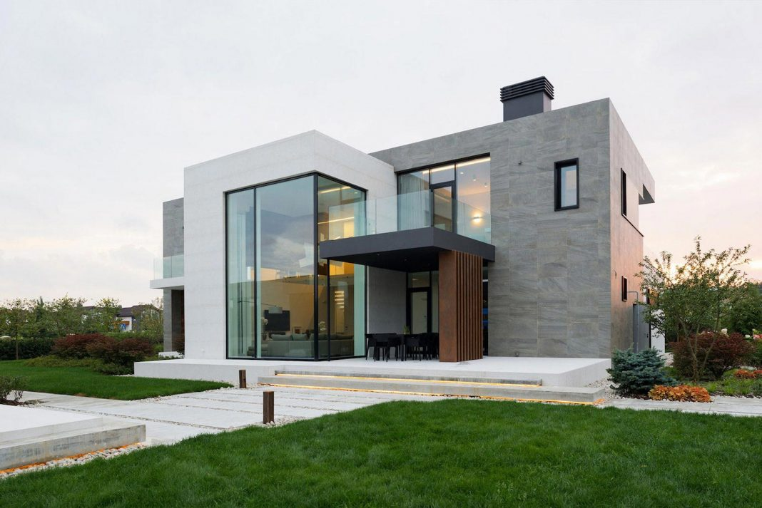 Elegant contemporary country house in the Suburbs of Pestovo, Russia