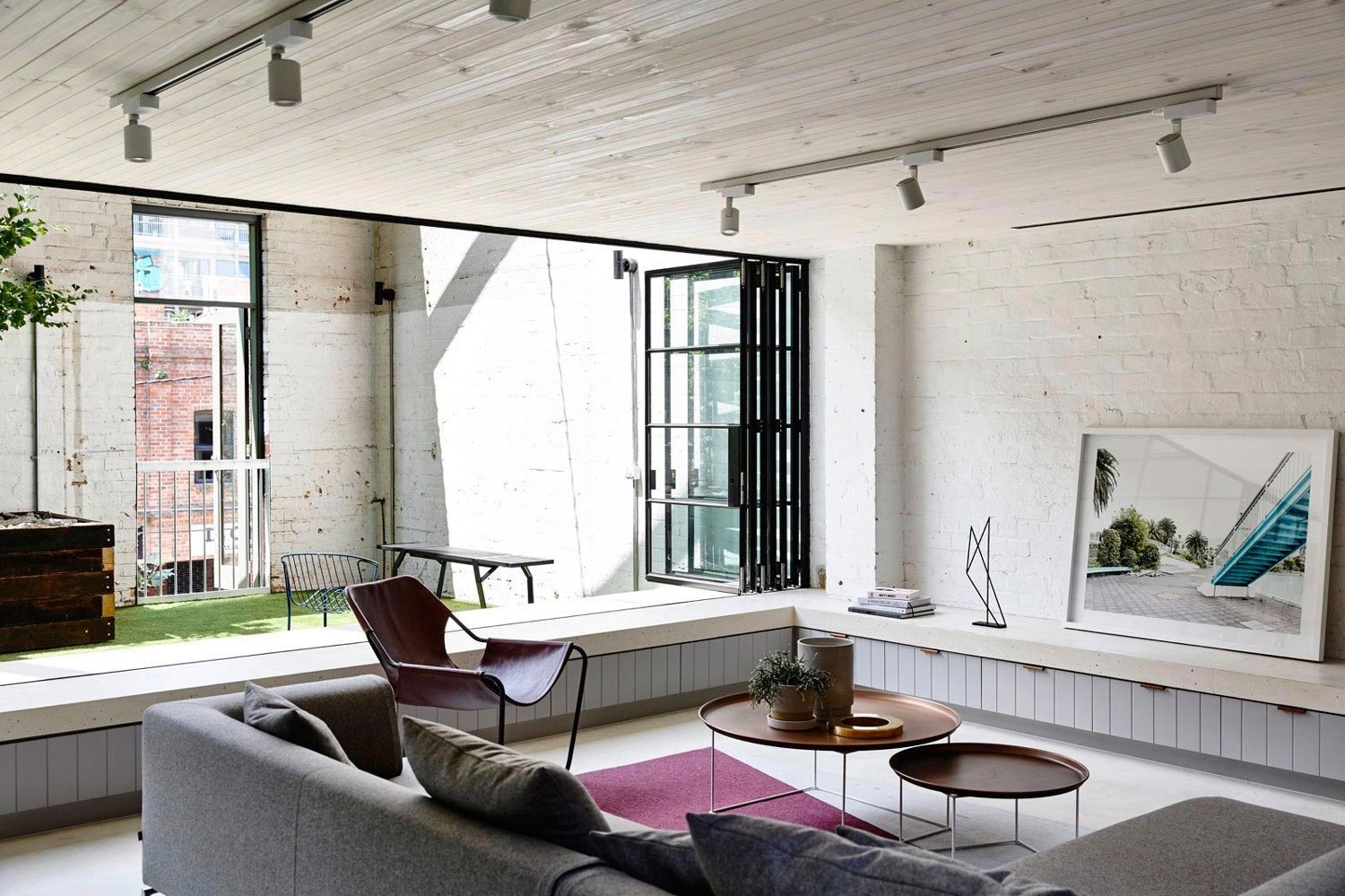 former gritty brick warehouse old industrial fitzroy gets modern renovation 04 former gritty brick warehouse old industrial fitzroy gets modern