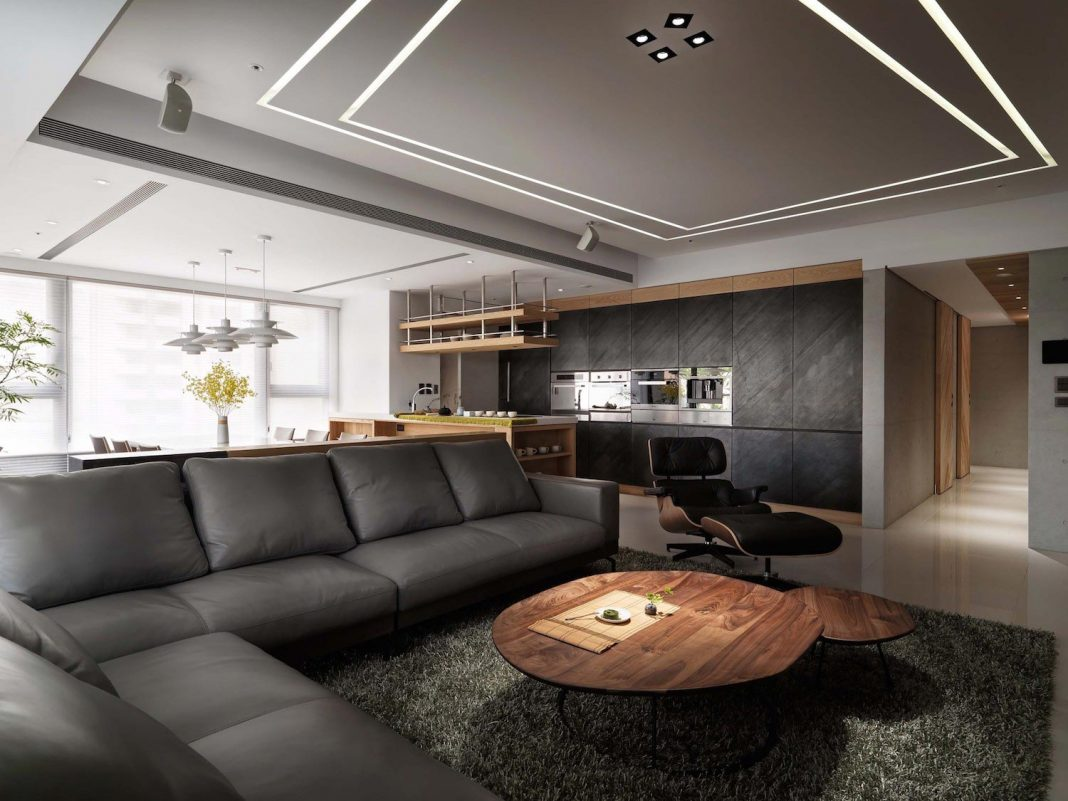 Jade Apartment: a high up location and spaciousness is the main intent behind the design