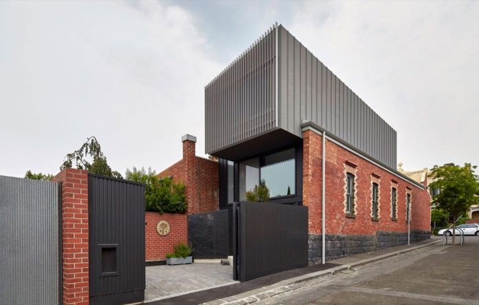 Julie Firkin Architects design a contemporary brick and metal house in Fitzroy, Melbourne