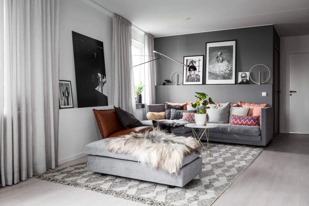 Liljeholmen Scandinavian apartment in Stockholm by Stylingbolaget