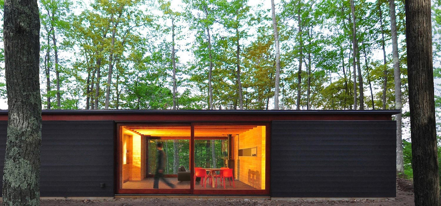 The linear cabin small unassuming family retreat into for Home architecture blog