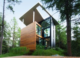 Modern house in the woods for Polish Sculptor Jacek Jarnuszkiewicz
