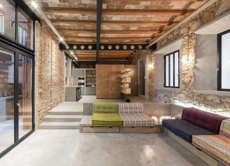 Loft MDP: Refurbishment of an old carpenter's workshop into stylish loft with brick and stone walls
