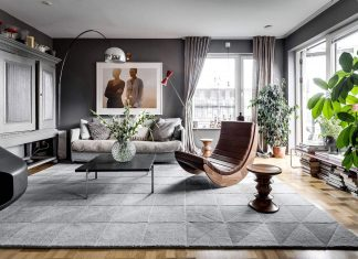 Sehlstedtsgatan 7, a stylish penthouse on two floors in Stockholm, Sweden