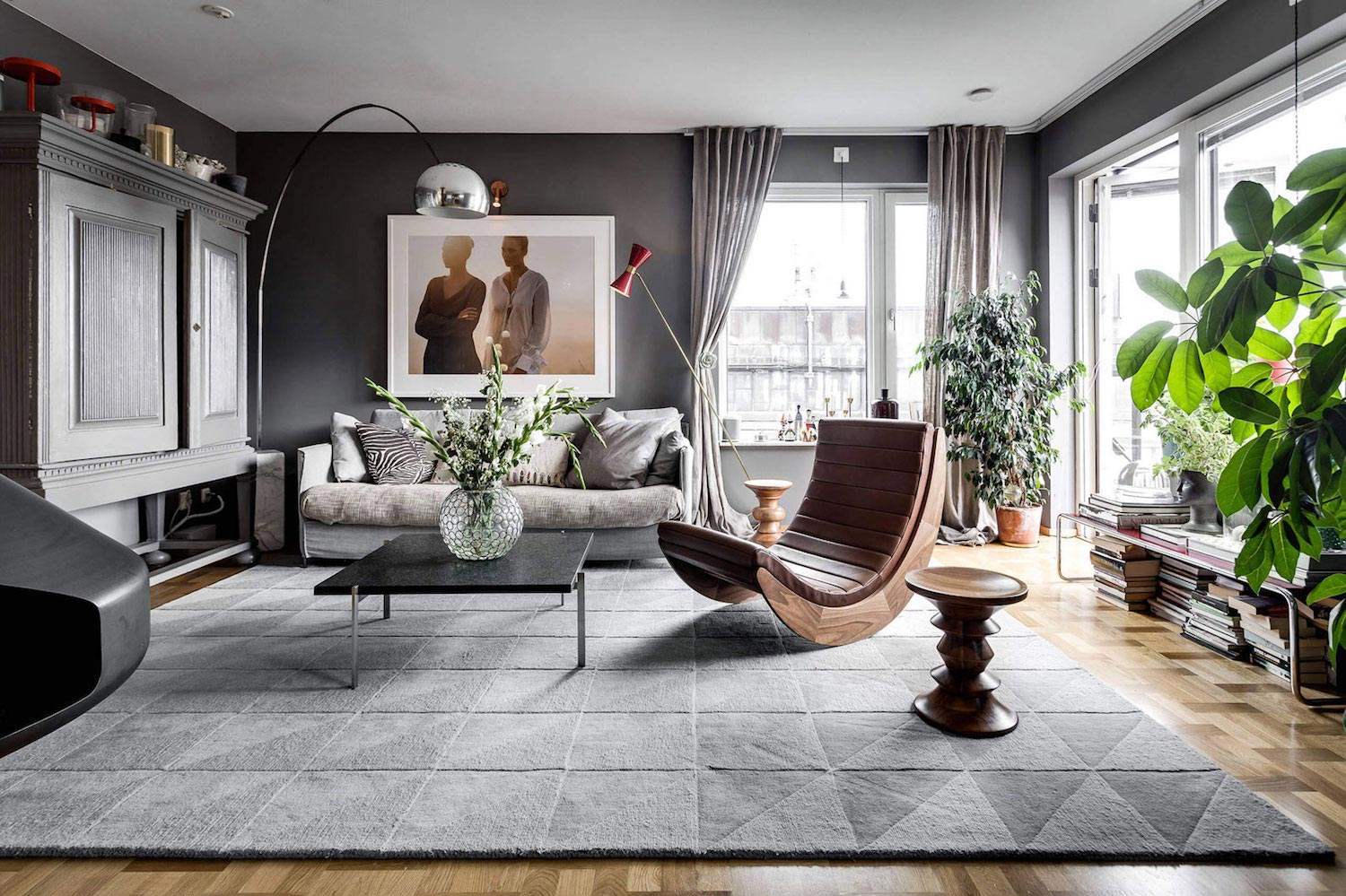 Sehlstedtsgatan 7 a stylish penthouse on two floors in stockholm sweden caandesign architecture and home design blog
