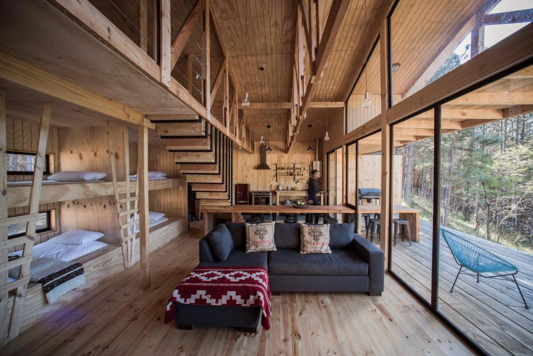 Shed Living : Simple pine wooden shed includes spacious living room and ...