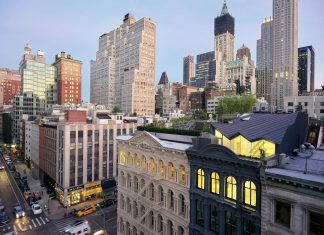 Stealth penthouse located on one of New York's most beautiful and oldest cast-iron facades