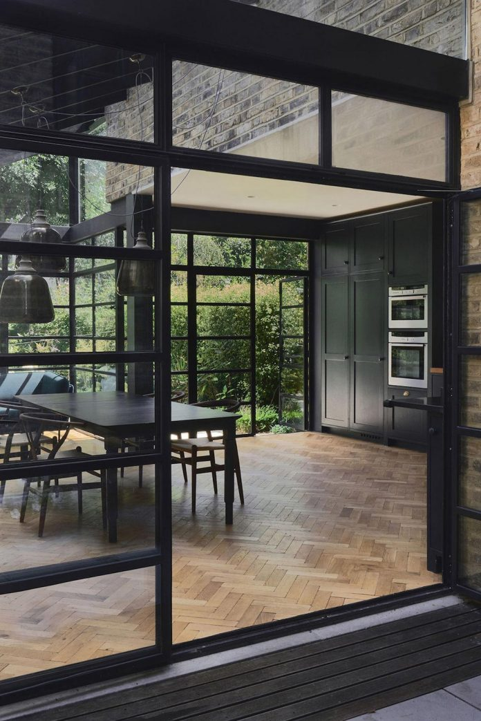 Crittal Windows And Doors Were Used Throughout Opening Up To The Lush Verdant Garden A Roof Extension Was Added As Home Office With Full Width Glazing