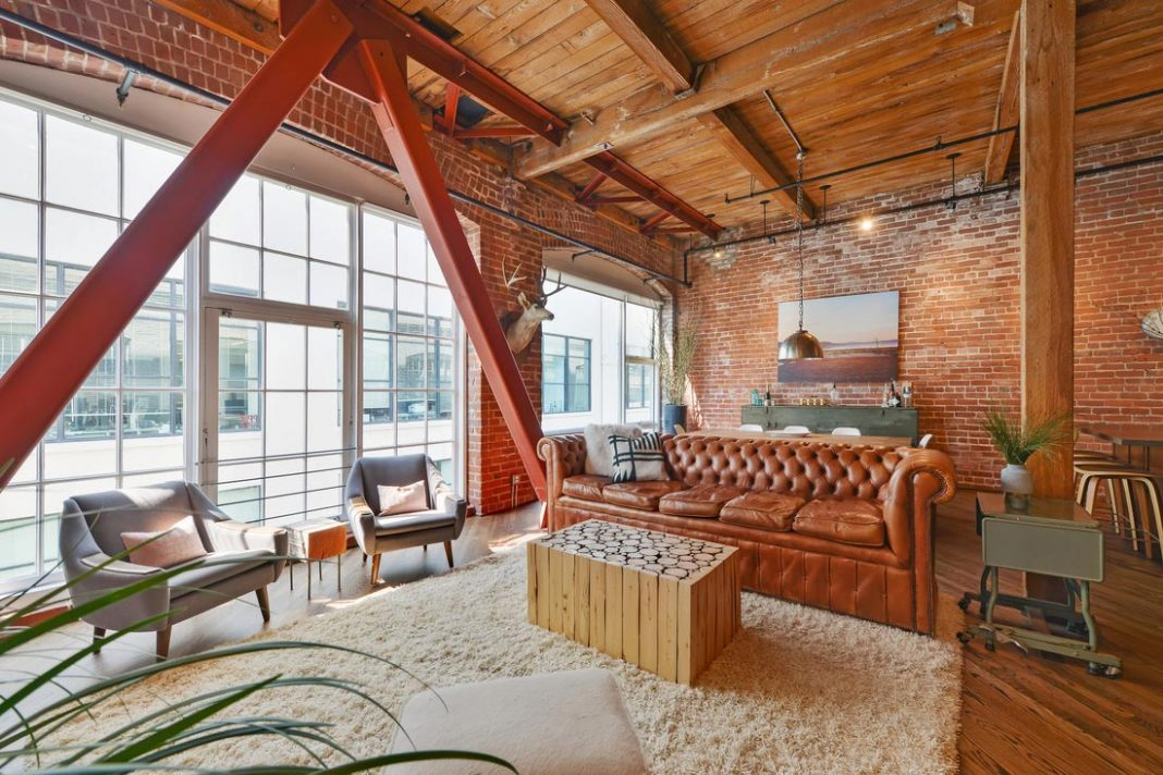 Brick loft situated in San Francisco designed by Melissa Winn ...