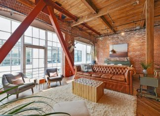 Brick loft situated in San Francisco designed by Melissa Winn Interiors
