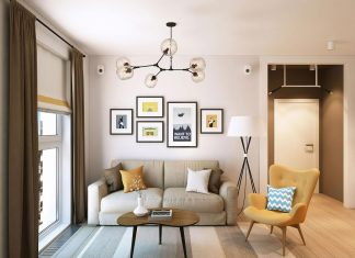 Calm and modern interior with the interesting details and décor in Balashiha, region of Moscow-city