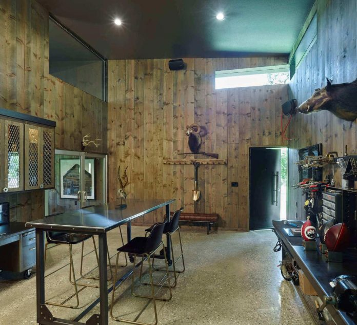 Modern Furniture Workshop existing rustic studio + workshop is transformed in to a strong