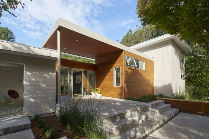 The House Had A Frumpy Exterior And An Interior That Was Dominated By A  Massive, Faux Finished Steel Skylight, And A Teal Green Polished Concrete  Floor.