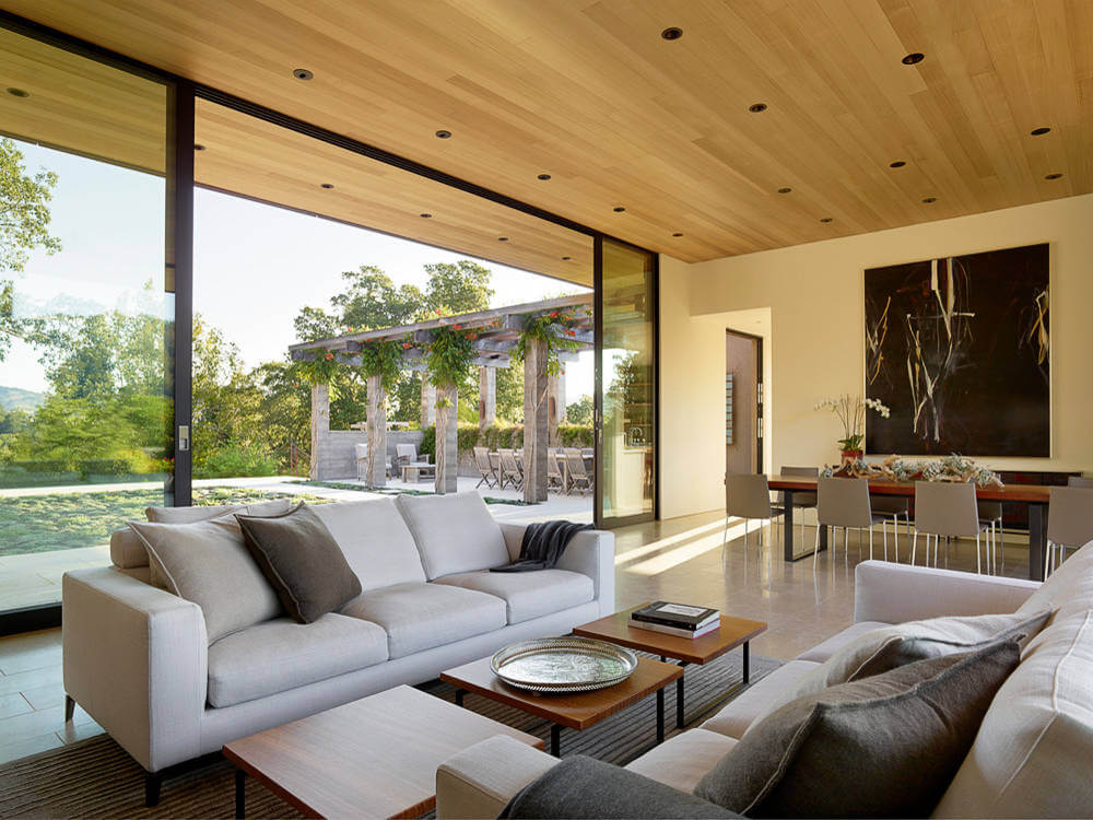 Indoor and outdoor living and to take advantage of the beautiful views of Mt. Tam and the Marin hills