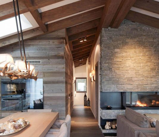 Luxurious mountain theme apartment located in Laax by Go Interiors