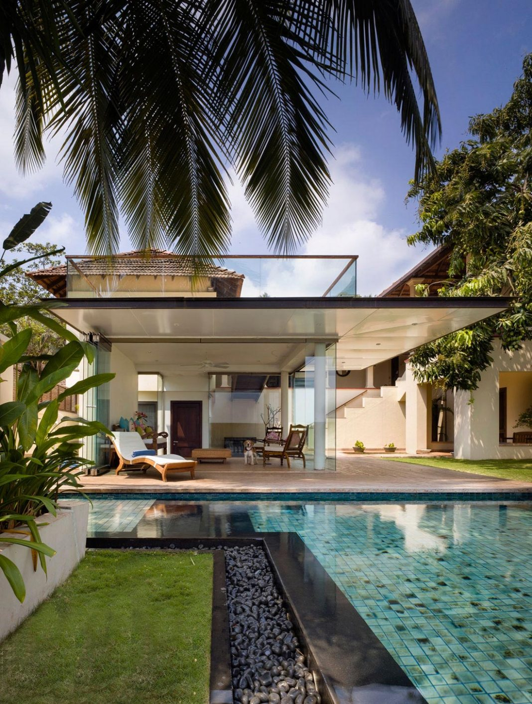 Redesign of a 19th century villa including a blend of modern furniture and found pieces