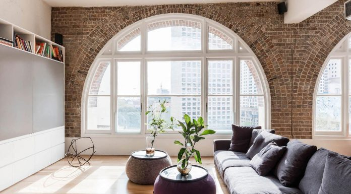 Roof warehouse redesign with beautiful arched windows