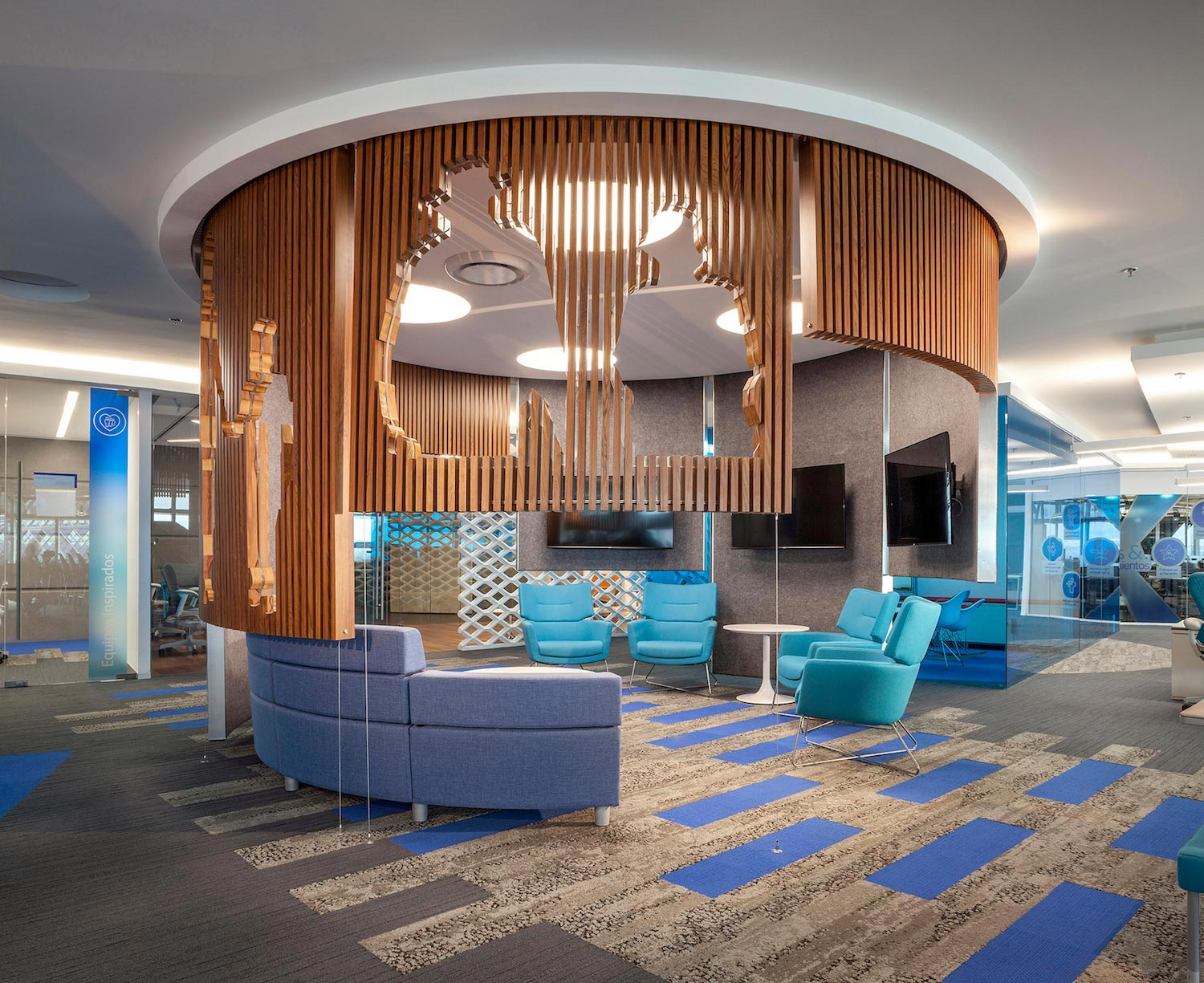 Space designs the new offices of baxalta situated on the for New mexico home designs