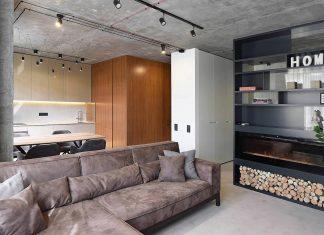 Tiny contemporary apartment in Kiev designed by Oleg Kuiava