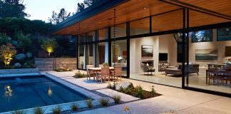 Warm, modern, Eichler-inspired, open, indoor-outdoor home on a deeper-than-usual San Mateo Highlands