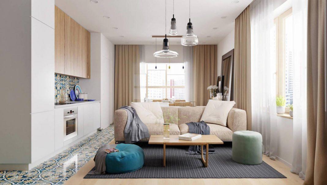 Barca contemporary apartment designed by Kristina Saakyan