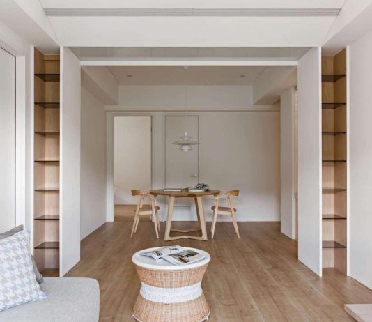 Bright interior makes this simple apartment to be so lovely
