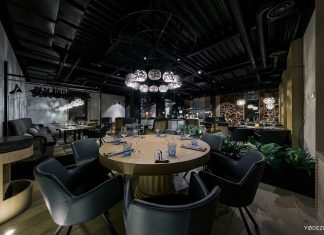 Casa Nori stylish restaurant in Kiev, Ukraine designed by Yodezeen