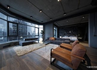 Charismatic darken apartment in Kiev designed by YoDezeen