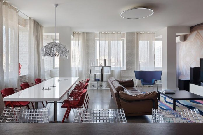 Chic apartment designed for a young family with two children in Minsk, Belarus