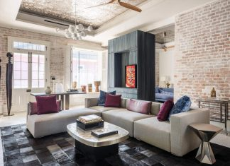Chic home in New Orleans with a lot of great combinations of materials and styles