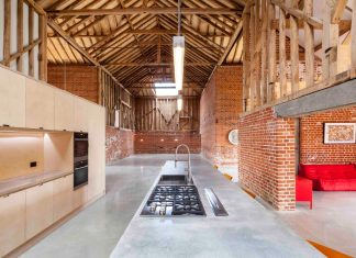 Church Hill large barn of cathedral-like proportions gets a eco contemporary renovation
