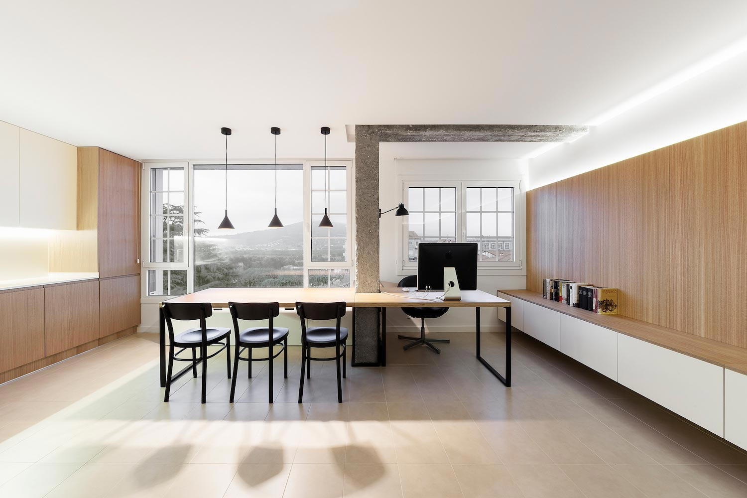Clean and simple design for a multifunctional space for Home architecture blog
