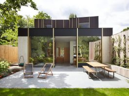 Contemporary home by a 100-year-old pear tree in London, England