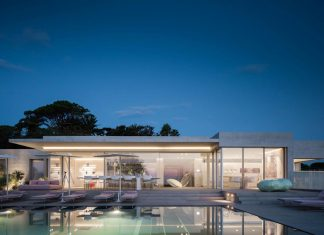 Contemporary residence in Ramatuelle reflecting a perfect blend between comfortable privacy and community living