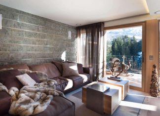 Cozy chalet situated in St. Moritz, Switzerland designed by Matteo Ceron