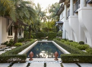 Mediterranean style villa in the historic Sunset Drive in Coral Gables, Florida