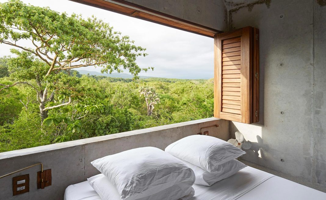 Small house for two nested in area of dense vegetation near Puerto Escondido