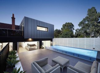 For this South Yarra residence, the swimming pool plays an important role