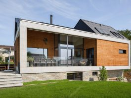 Swiss Simplicity: where modern-meets-traditional home in simple shapes and forms