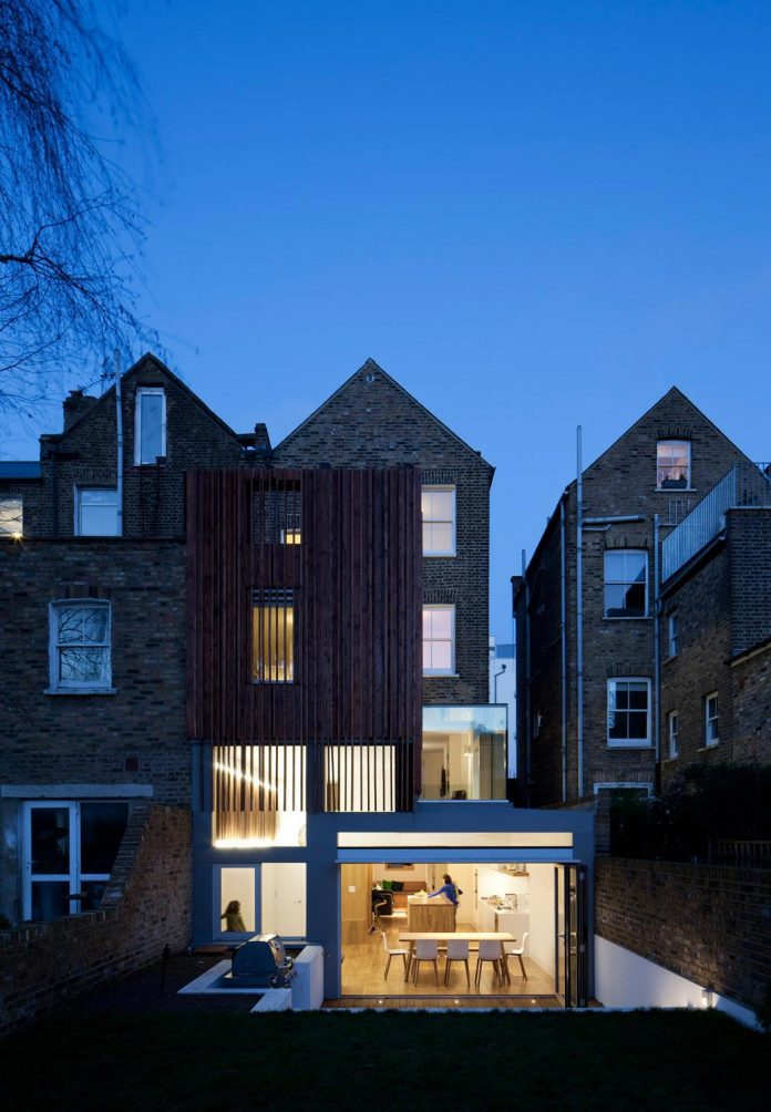 Rear Extension Ideas >> Typical London Victorian terraced house redesigned with highly sculptural timber clad rear ...