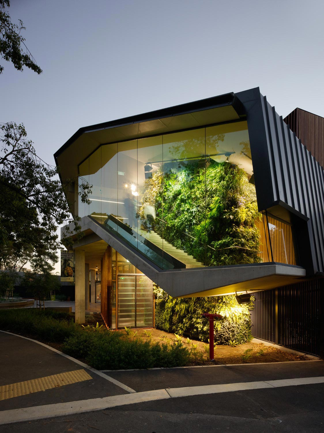 adelaide zoo entrance precinct comprises  series  interlinked forecourts designed  hassell